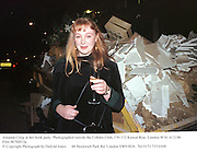 Amanda Craig at her book party. Photographed outside the Cobden Club, 170-172 Kensal Rise, London W10. 6/12/96<br />