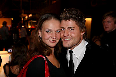 NLD/Amsterdam/20081213 - Jackie's 5th Anniversary Party, Koert - Jan de Bruin en partner Charlotte Huiskamp