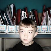 Hunter Sonalia. Casey Brennan's kindergarten class at Hopkins Elementary School in Sherwood on Wednesday, May 23, 2012.