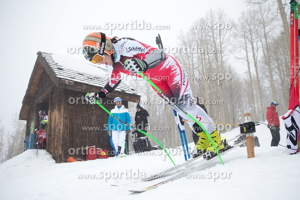 30.01.2015, Golden Peak Strecke, Vail, USA, FIS Weltmeisterschaften Ski Alpin, Training, im Bild Nicole Hosp (AUT) // Nicole Hosp of Austria in Action during a practice run for the FIS Ski World Championships 2015 at the Golden Peak Course, Vail, United States on 2015/01/30. EXPA Pictures © 2015, PhotoCredit: EXPA/ Johann Groder