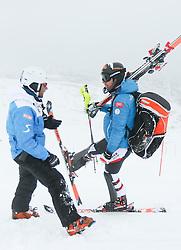 29.10.2013, Moelltaler Gletscher, Flattach, AUT, OeSV, Slalomteam Herren, Training, im Bild Marko Pfeifer (OeSV Gruppentrainer) und Mario Matt (AUT) // Marko Pfeifer (OeSV Coach)  and Mario Matt of Austria during practice session of mens Slalomteam of  Austrian Ski Team 'OeSV' at Moelltaler Glacier in Flattach, Austria on 2013/10/29. EXPA Pictures © 2013, PhotoCredit: EXPA/ Johann Groder