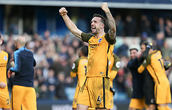 Shane Duffy of Brighton and Hove Albion celebrates winning on penalties - Mandatory by-line: Arron Gent/JMP - 17/03/2019 - FOOTBALL - The Den - London, England - Millwall v Brighton and Hove Albion - Emirates FA Cup Quarter Final