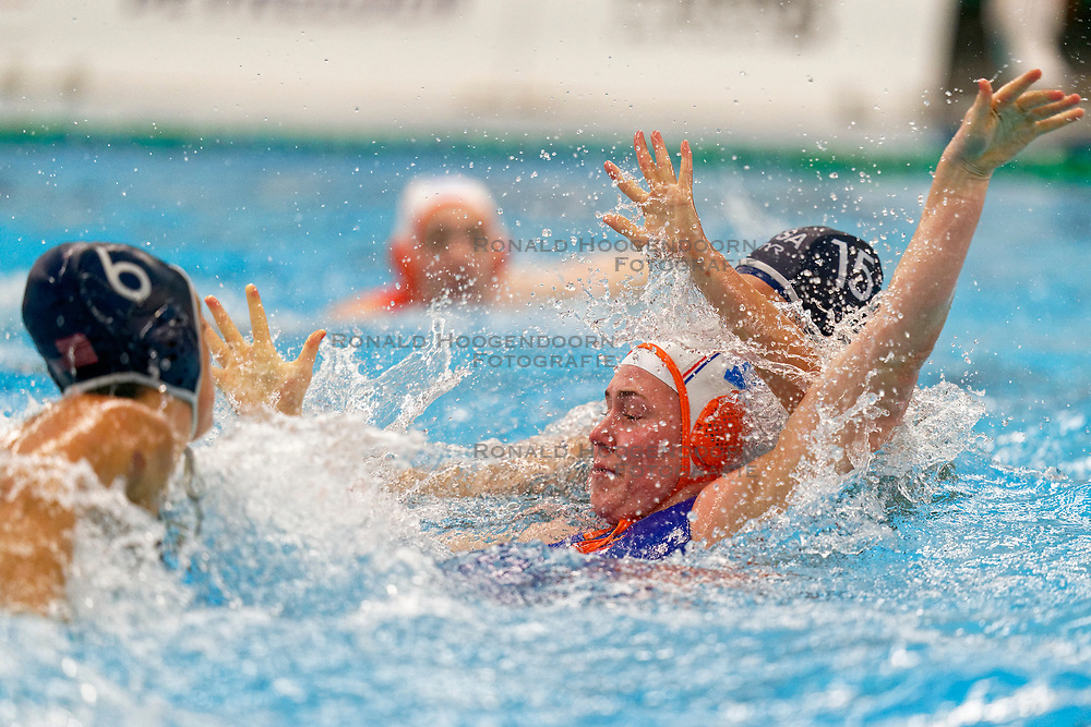 Kitty Lynn Joustra #11 of Netherlands in action during the friendly match Netherlands vs USA on February 19, 2020 in Amerena Amersfoort.