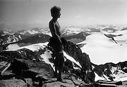 På Galdhöpiggen, Skandinaviens högsta berg, i Jotunheimen i Norge.