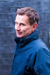 London, November 14 2017. Health Secretary Jeremy Hunt attends the UK cabinet meeting at Downing Street. © Paul Davey