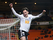 30th November 2018, Tannadice Park, Dundee, Scotland; Scottish Championship football, Dundee United versus Ayr United; Lawrence Shankland of Ayr United celebrates after scoring for 5-0 in the 88th minute