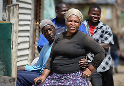 Nov. 26, 2014 - Cape Town, South Africa - A scene from daily life in Imizamo Yethu town ship. Cape Town, South Africa. Photo credit: Artur Widak  (Credit Image: © Artur Widak/NurPhoto/ZUMA Wire)