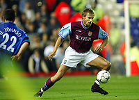 Fotball, 16. september 2002. FA Barclaycard premiership,  Birmingham - Aston Villa. Olof Mellberg, Aston Villa.