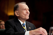 "Former Senator ARLEN SPECTER (D-PA) arrives to testify before a Administrative Oversight and the Courts Subcommittee hearing on ""Access to the Court: Televising the Supreme Court"" on Capitol Hill on Tuesday. Specter has been trying to get the high court televised for 25 years."