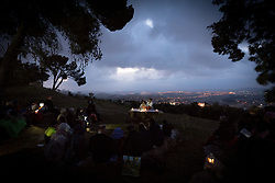 20 April 2019, Jerusalem: Easter Sunday sees a sunrise service at Jabal Allah (God's Mountain) on the Mount of Olives in Jerusalem, held by the Lutheran Church of the Redeemer (English-speaking congregation).