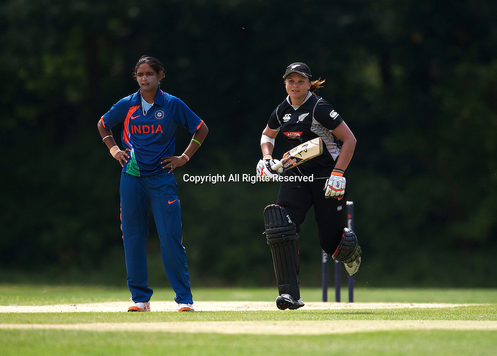 5.7.11 Southgate, England. Suzie Bates of New Zealand White Ferns in action during the India Women vs White Ferns NatWest Womens Quadrangular Series Women's One-Day Match at The Walker Cricket Ground, Southgate.