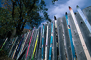 "A fence decorated with ""retired"" skis , Jackson, Wyoming..Subject photograph(s) are copyright Edward McCain. All rights are reserved except those specifically granted by Edward McCain in writing prior to publication...McCain Photography.211 S 4th Avenue.Tucson, AZ 85701-2103.(520) 623-1998.mobile: (520) 990-0999.fax: (520) 623-1190.http://www.mccainphoto.com.edward@mccainphoto.com"
