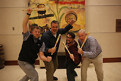 Gary Landers, Chris Howell, Jake May and Jonathan Palmer pose for a photo after the 2017 Kentucky News Photographer Association Still Contest, Saturday, Jan. 21, 2017  at Louisville Marriott East in Louisville.