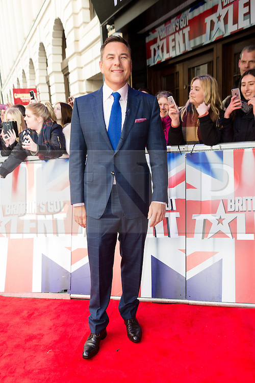 """© Licensed to London News Pictures. 22/01/2016. London, UK. David Walliams arrives at The Dominion Theatre in London for the """"Britain's Got Talent"""" auditions. Photo credit : Vickie Flores/LNP"""