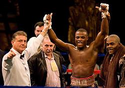 May 18, 2007; New York, NY, USA; Peter Quillen knocks out Victor Paz in the second round of their fight at the Beacon Theatre in New York City.