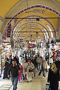 Muslim women shopping and tourists in The Grand Bazaar, Kapalicarsi, great market, Beyazi, Istanbul, Republic of Turkey