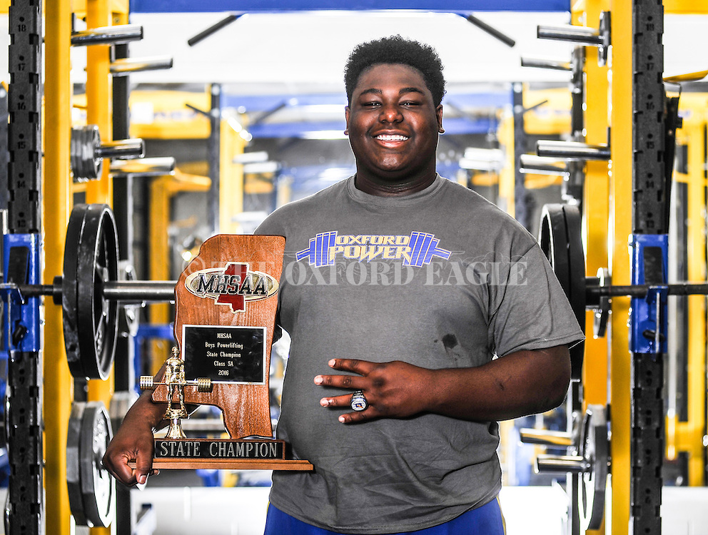 The Oxford High powerlifting team, in Oxford, Miss. on Monday, April 16, 2016, won the school's fourth consecutive powerlifting championship on Saturday, April 16, 2016 in Jackson, Miss.
