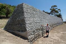 Christchurch-Gabion wall built to protect against future earthquakes