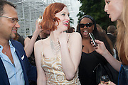 KAREN ELSON, The Serpentine Summer Party 2013 hosted by Julia Peyton-Jones and L'Wren Scott.  Pavion designed by Japanese architect Sou Fujimoto. Serpentine Gallery. 26 June 2013. ,