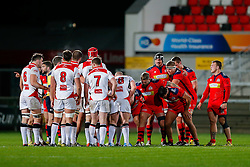 Bristol Rugby scrum down against Ulster Ravens - Mandatory byline: Rogan Thomson/JMP - 13/11/2015 - RUGBY UNION - Kingspan Stadium - Belfast, Northern Ireland - Ulster Ravens v Bristol Rugby - The British & Irish Cup Pool 2.