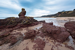 View of Seacliff Beach in East Lothian , Scotland, United Kingdom