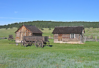 1887 homestead of Adaline Hornbek and family.  Florissant Fossil Beds National Monument, Colorado.