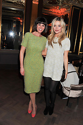 Left to right, DAWN PORTER and LAURA WHITMORE at the Baileys Spirited Women party at Cafe Royal Hotel, Regent's Street, London on 21st March 2013.