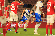 GOAL Ryan Delaney turns away after pulling a goal back 2-1 during the second round of the Carabao EFL Cup match between Middlesbrough and Rochdale at the Riverside Stadium, Middlesbrough, England on 28 August 2018.