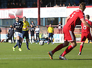 Dundee's Gary Harkins fires in a shot - Dundee v Abderdeen, SPFL Premiership at Dens Park<br /> <br />  - &copy; David Young - www.davidyoungphoto.co.uk - email: davidyoungphoto@gmail.com