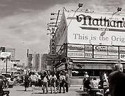 "Historic ""Nathans"" restaurant, on Surf Avenue."
