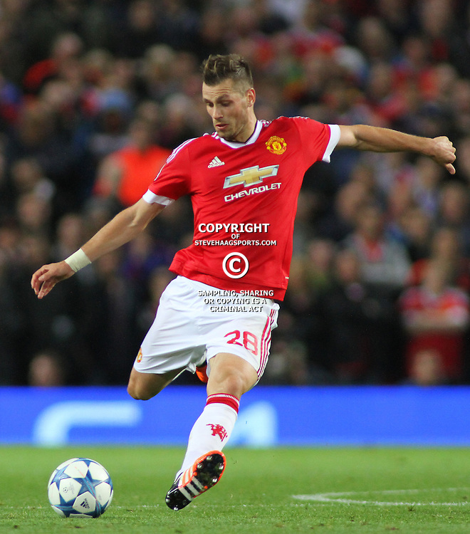 MANCHESTER, ENGLAND - SEPTEMBER 30: Morgan Schneiderlin of Manchester United during the Champions League match between Manchester United and Vfl Wolfsburg at Old Trafford Stadium on September 30, 2015 in Manchester, United Kingdom. (Photo by Mitchell Gunn/ESPA-IMAGES) ***Local Caption*** Morgan Schneiderlin