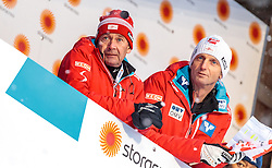23.02.2017, Lahti, FIN, FIS Weltmeisterschaften Ski Nordisch, Lahti 2017, Herren Skisprung, Normalschanze, Tarining, im Bild Ernst Vettori (AUT, Sportlicher Leiter Ski Nordisch), Heinz Kuttin (AUT, Chef Trainer Skisprung Herren) // Ernst Vettori of Austria Skijumping Headcoach Heinz Kuttin of Austria during Mens Skijumping Training of FIS Nordic Ski World Championships 2017. Lahti, Finland on 2017/02/23. EXPA Pictures © 2017, PhotoCredit: EXPA/ JFK