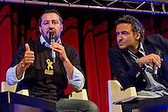 Roma, 11 Maggio 2015<br /> Comizio di Matteo Salvini, Lega Nord, con Massimiliano Lenzi  al Teatro Brancaccio<br /> Rome, May 11, 2015<br /> Rally Matteo Salvini, Northern League, with Massimiliano Lenzi  at the Teatro Brancaccio