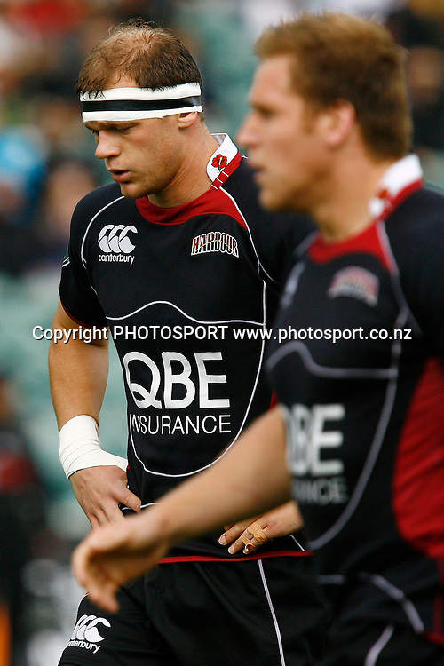 North Harbour's Captain Chris Smith reacts. Air NZ Cup Rugby Union Match. North Harbour v Hawkes Bay. North Harbour Stadium, Albany, Auckland, New Zealand. Saturday 12th September 2009. Photo: Anthony Au-Yeung/PHOTOSPORT