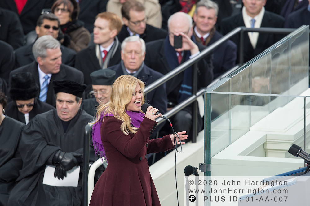 Kelly Clarkson at the 57th Presidential Inauguration of President Barack Obama at the U.S. Capitol Building in Washington, DC January 21, 2013.