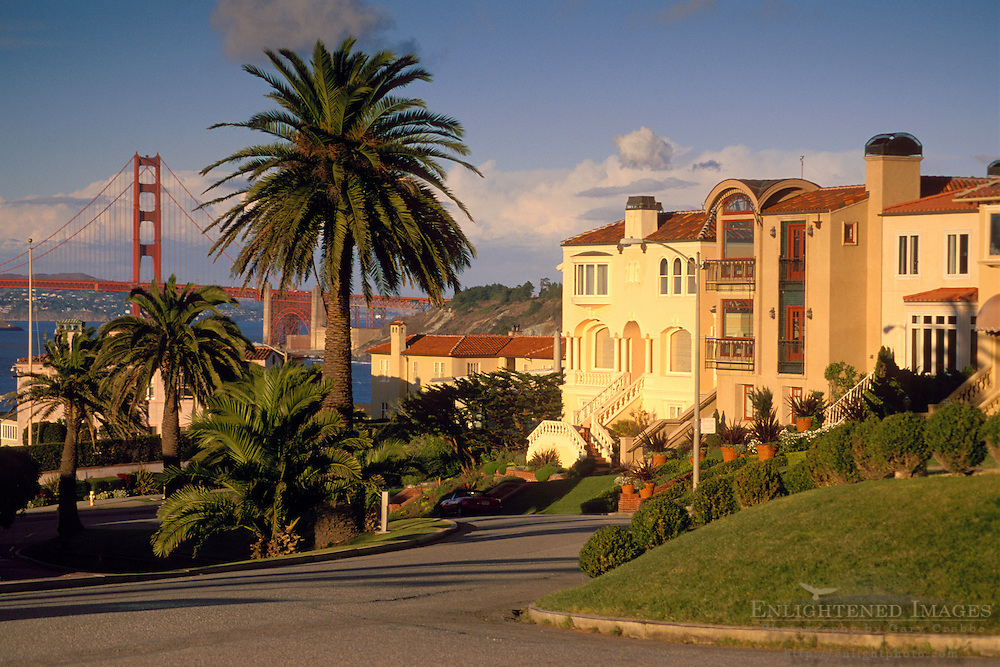 Expensive homes in the Sea Cliff District of San Francisco, California