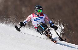 March 14, 2018 - Pyeongchang, South Korea - Laurie Stephens of the US during Giant Slalom competition Wednesday, March 14, 2018 at the Jeongson Alpine Center at the Pyeongchang Winter Paralympic Games. Photo by Mark Reis (Credit Image: © Mark Reis via ZUMA Wire)
