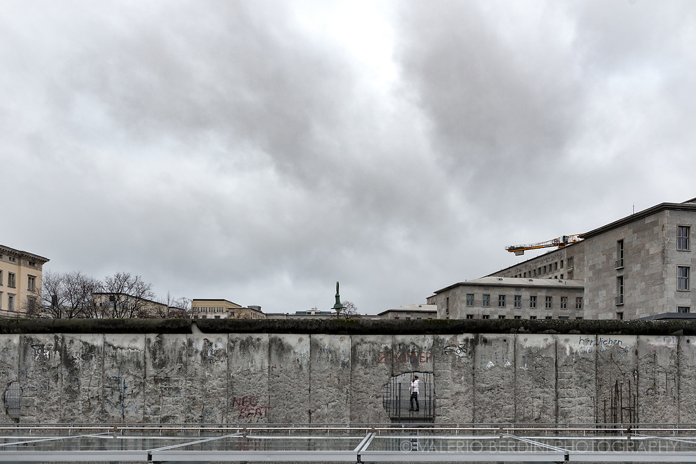 East Berlin, as seen beyond the remaining of the wall in December 2017.