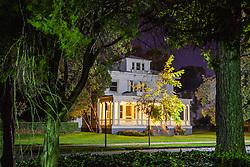 Mare Island historic district at night