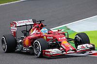 Fernando Alonso (ESP) Ferrari F14-T.<br /> Japanese Grand Prix, Friday 3rd October 2014. Suzuka, Japan.