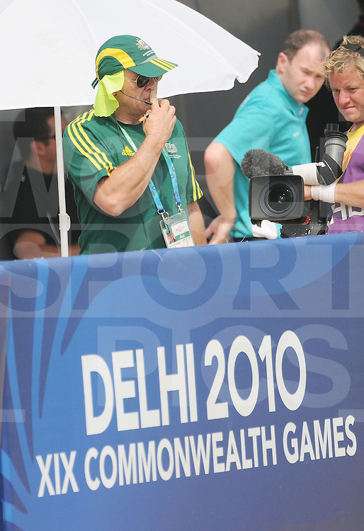 NEWS DELHI-  HOCKEY-- MEN  : Ric Charlesworth, Aussies Coach during the match against Pakistan. Australia beat Pakistan 1-0 on  Oct 9th 2010. Photo: Grant Treeby Images. Commonwealth Games 2010