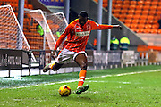 Blackpool Defender Hayden White during the Sky Bet League 1 match between Blackpool and Oldham Athletic at Bloomfield Road, Blackpool, England on 16 February 2016. Photo by Pete Burns.