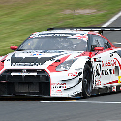 Sir Chris Hoy racing his Nissan GT-R, GT3, for team RJN pictured during the first round of the 2014 Avon Tyres British GT Championship at Oulton Park Race Circuit, Cheshire, held on the 21st April 2014.