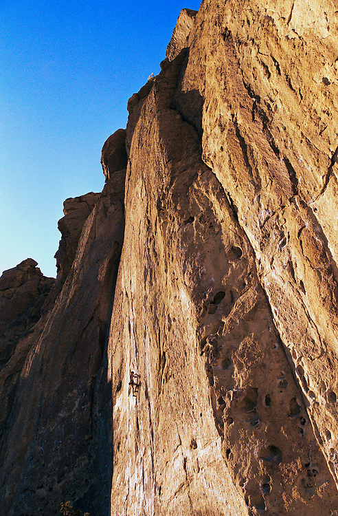 Rock climber at Smith Rock State Park Oregon USA&amp;#xA;<br />