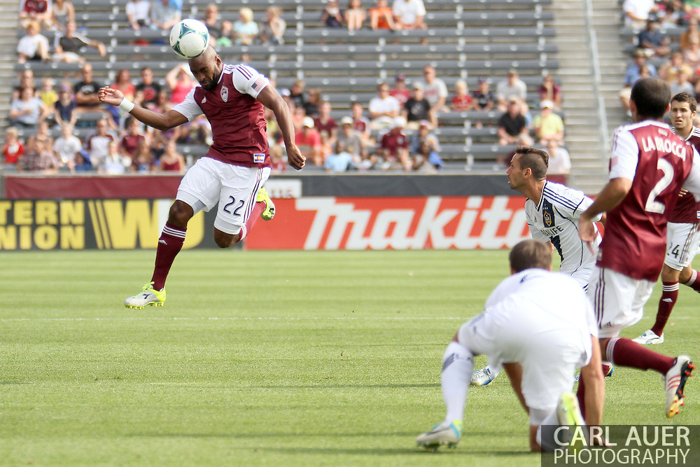 July 27th, 2013 - Colorado Rapids defender Marvell Wynne (22) elevates to head the ball in the first half of the Major League Soccer match between the LA Galaxy and the Colorado Rapids at Dick's Sporting Goods Park in Commerce City, CO