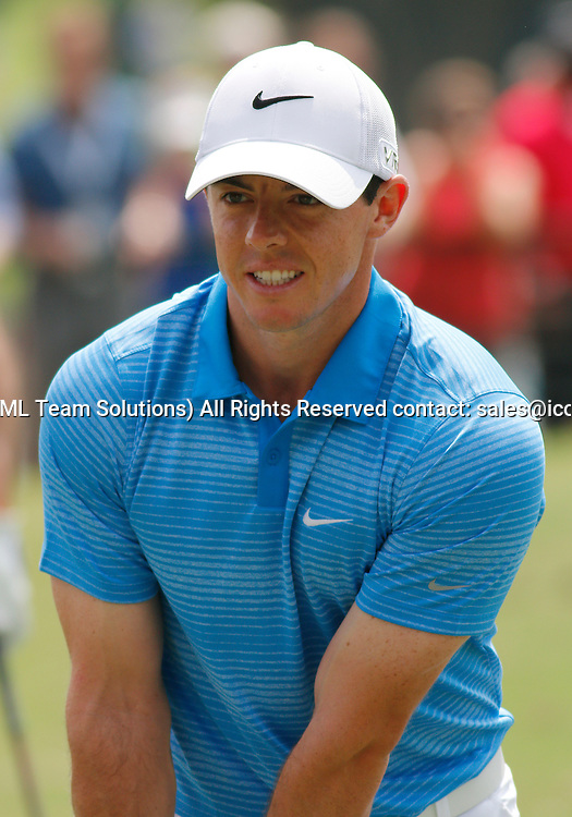 September 13, 2014:   Rory McIlroy on the practice range prior to the third round of the FedEx Cup - The Tour Championship at East Lake Golf Club in Atlanta, Georgia.