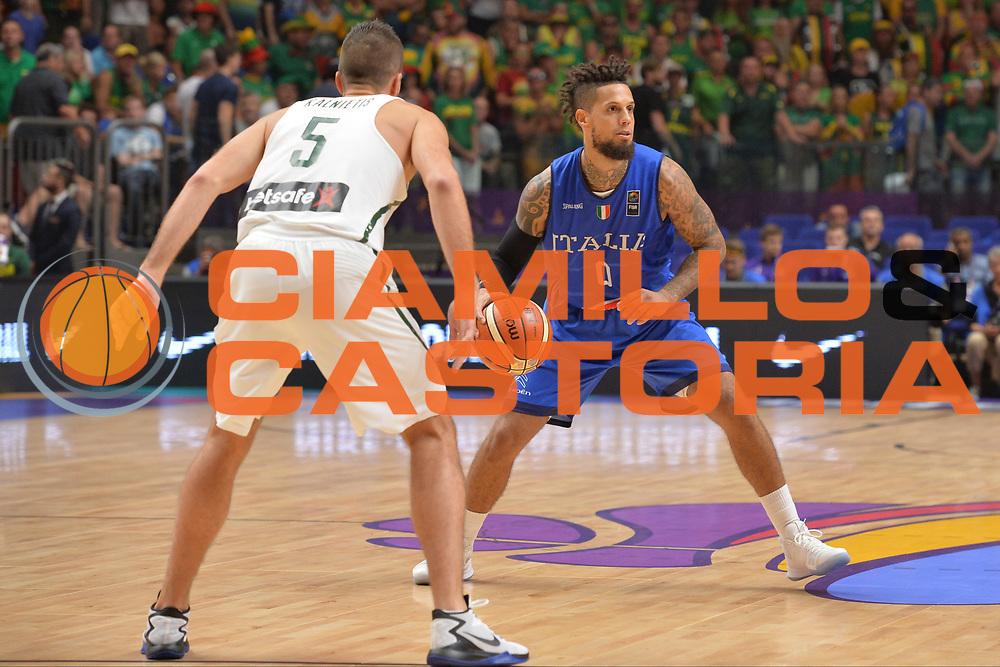 Daniel Hackett<br /> Nazionale Italiana Maschile Senior<br /> Eurobasket 2017 - Group Phase<br /> Lituania - Italia<br /> FIP 2017<br /> Tel Aviv, 03/09/2017<br /> Foto Ciamillo - Castoria/ M.Longo