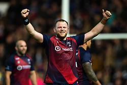 Joe Joyce of Bristol Bears celebrates at the final whistle - Mandatory byline: Patrick Khachfe/JMP - 07966 386802 - 18/10/2019 - RUGBY UNION - Ashton Gate Stadium - Bristol, England - Bristol Bears v Bath Rugby - Gallagher Premiership