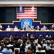 "Commission staffers present Staff Statement No. 17, ""Improvising a Homeland Defense."" The 9/11 Commission's 12th public hearing on ""The 9/11 Plot"" and ""National Crisis Management"" was held June 16-17, 2004, in Washington, DC."