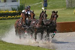 Dobrovitz Jozsef, (HUN), Amadeus, Carlo, Cassander T, Maestoso <br /> Marathon Driving Competition<br /> European Championships - Aachen 2015<br /> © Hippo Foto - Dirk Caremans<br /> 22/08/15
